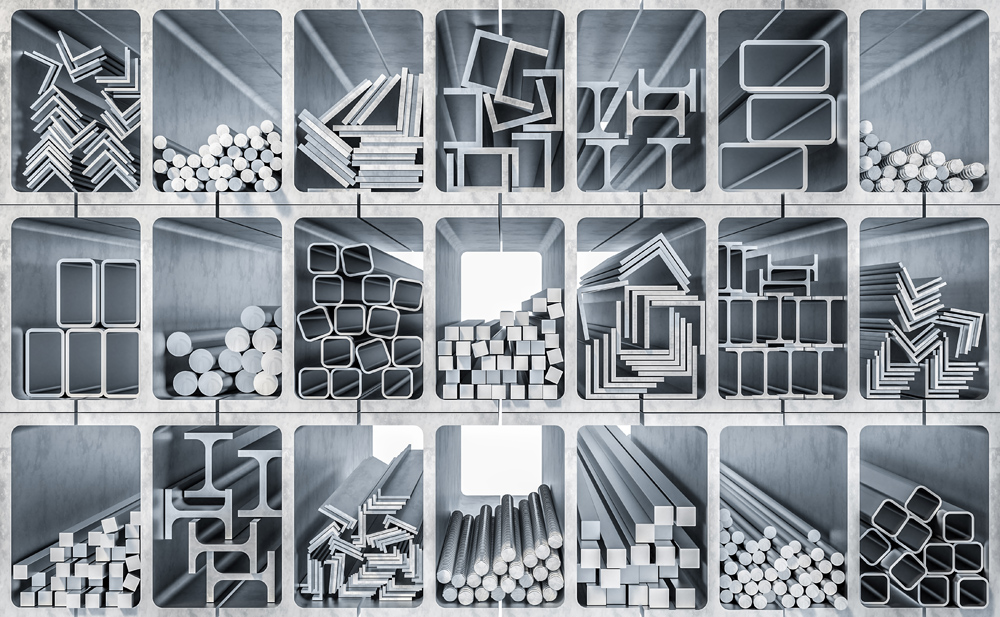 metal profile production 3d rendering image